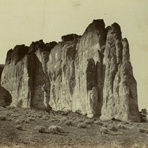 El Moro, or Inscription Rock, western New Mexico, 1000 miles west of Missouri River, 1867, by Alexander Gardner from Across the Continent on the Kansas Pacific Railroad