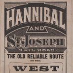 Hannibal and St. Joseph Railroad: the old reliable route to the West via Quincy, 1880