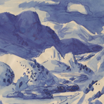 Pikes Peak, ca. 1940s, by Jerry Bywaters from the Colorado Sketchbook