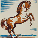 Paint Colt, 1937, by Jerry Bywaters