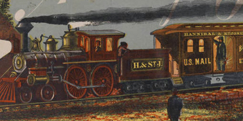 Hannibal and St. Joseph Railroad: the old reliable route to the West via Quincy , 1880